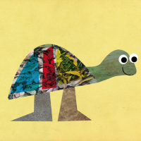 Tony the turtle collage